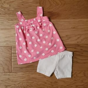 3/$15 Polka Dot Set Pink White Summer Tank Shorts